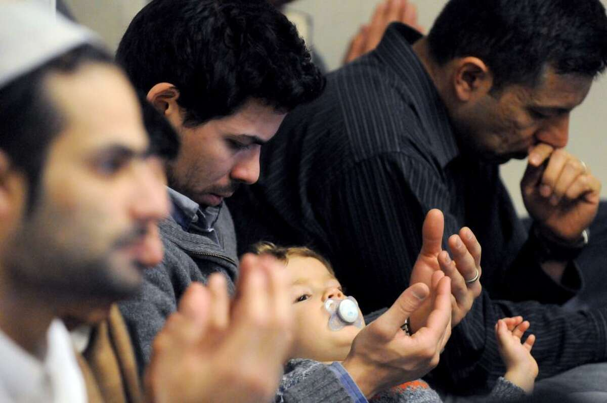 A service for Ashiqur Rahman, the 4-year-old boy hit by a truck Thursday in Albany, was held Friday, Feb. 13, 2015, at the Masjid As-Salam Mosque. (Michael P. Farrell/Times Union)