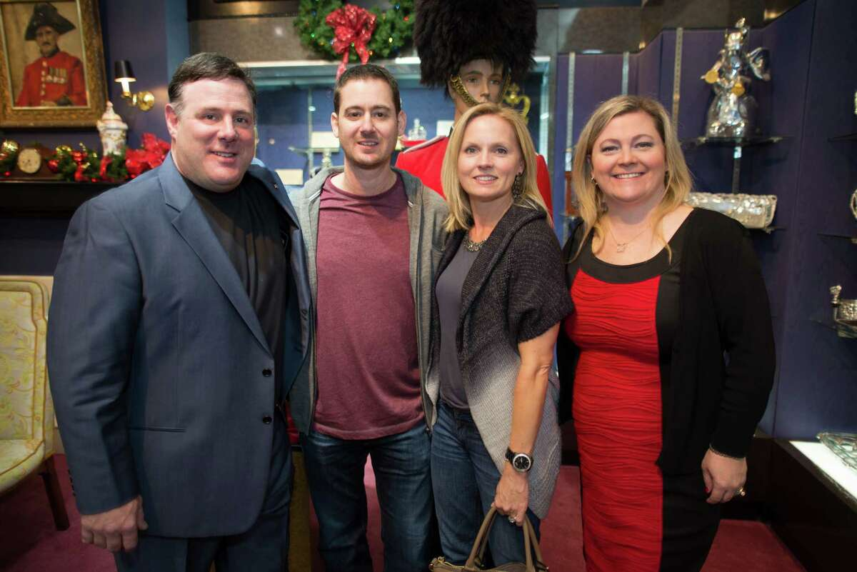 Rex Solomon, Ronnie and Mandy Caress, and Maggie Solomon at Houston Jewelry's holiday party on Thursday, November 20th, 2014