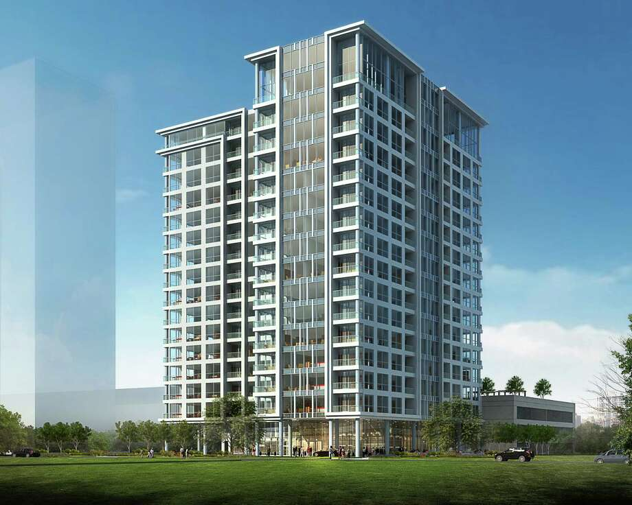 This Kirksey-designed building will house 96 condominium units. The 17-story tower will be called the Wilshire. Photo: Courtesy Of Pelican Builders