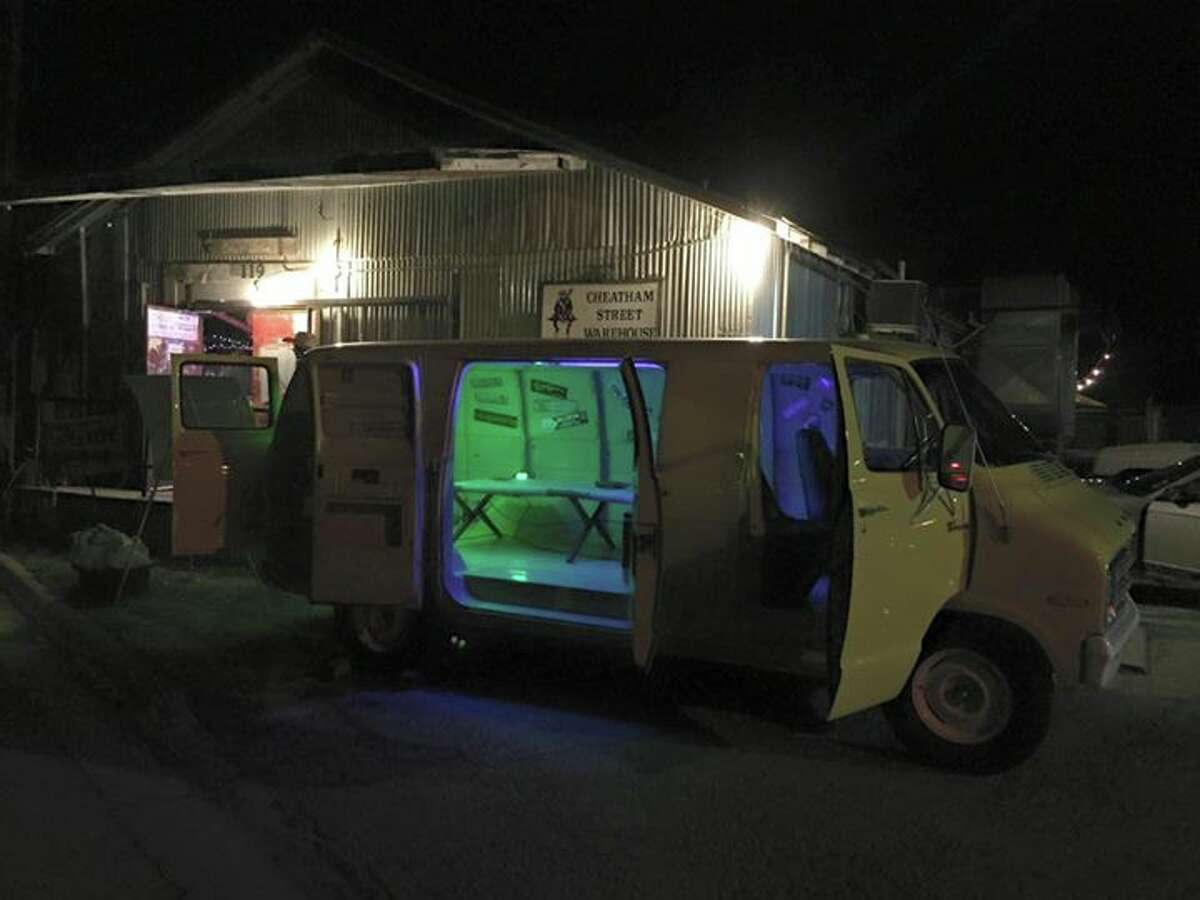 A yellow 1976 Dodge cargo van that took George Strait on his first trip to Nashville and on to country superstardom was rusting away in a yard in a Wimberley before it was saved by the owner of a historic San Marcos music venue and the owner of craft distillery.