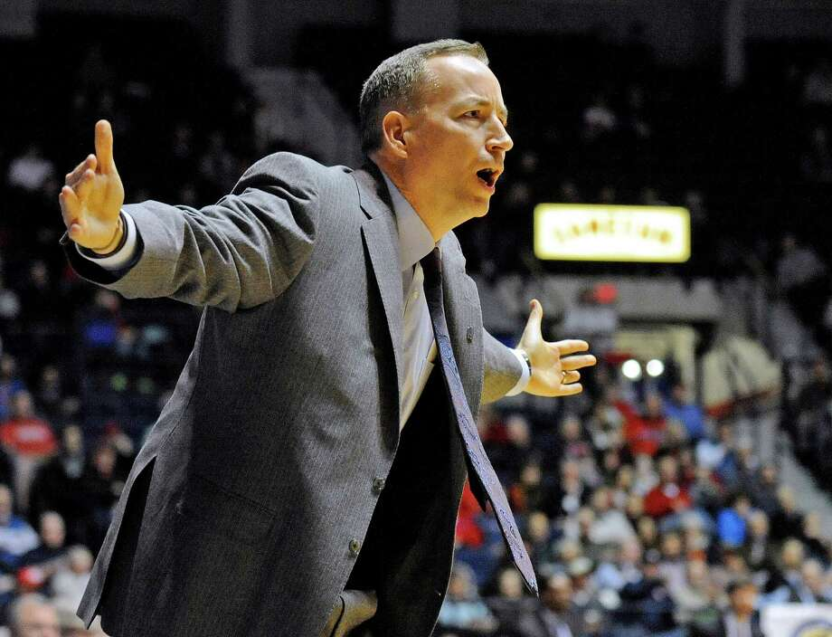 Texas A&M coach Billy Kennedy gestures during the first half of his team's NCAA college basketball game against Mississippi in Oxford, Miss., Wednesday, Feb. 4, 2015. Photo: Thomas Graning /Associated Press / The Daily Mississippian