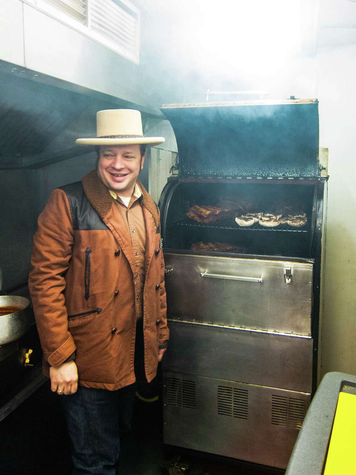 Ole Hickory smokers mean something to pitmasters in Europe too. Joe Walters tends his Ole Hickory pit at Texas Joe's Slow Smoked Meats in London, England. Texas Joe's Slow Smoked Meats, BrewDog Shoreditch, London, England