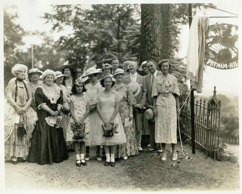Murial Putnam Smith (far right) at the first dedication of Putnam Hill Park in 1935. Smith is a descendant of Putnam, whose escape from the British will be recreated on Feb. 22 as part of the town's 375th anniversary. Photo: Contributed Photo / Greenwich Time Contributed