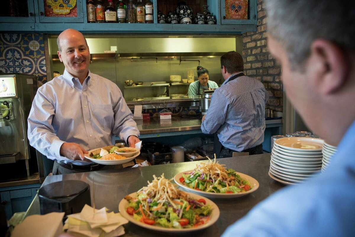 Restaurateur John Moore's Moderno Tacos and Tex Mex in Westchase has seen double-digit growth during the oil boom. But Moore says he's prepared for things to slow down to normal.