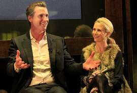 Gavin Newsom and Jennifer Siebel Newsom.