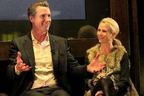 Gavin Newsom and Jennifer Siebel Newsom.