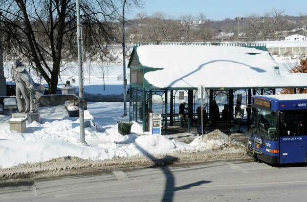 The CDTA Uncle Sam bus stop on River Street Friday Feb. 13, 2015 in Troy, N.Y. (Michael P. Farrell/Times Union) Photo: Michael P. Farrell / 00030616A