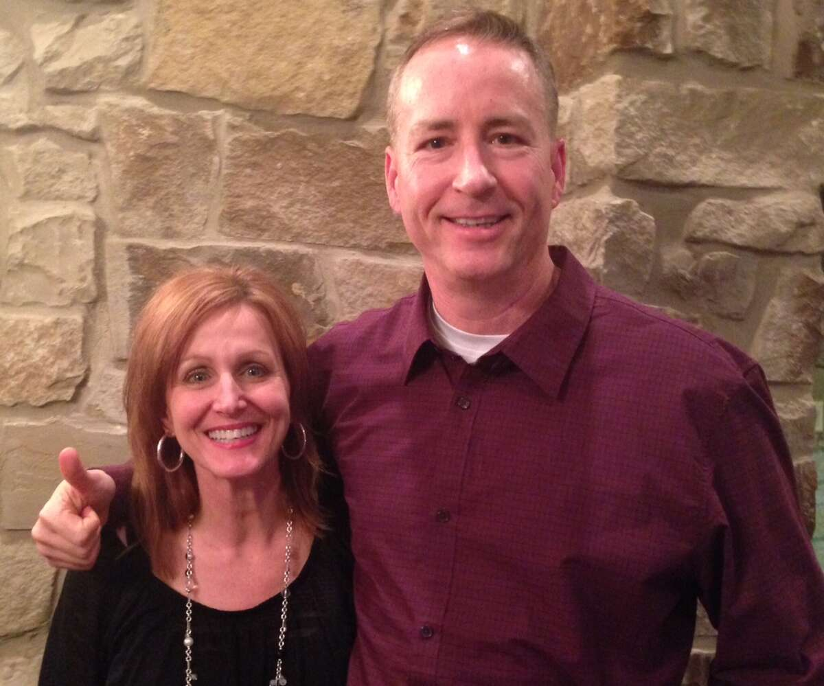 Texas A&M coach Billy Kennedy and his wife, Mary, on Feb. 11, 2015.