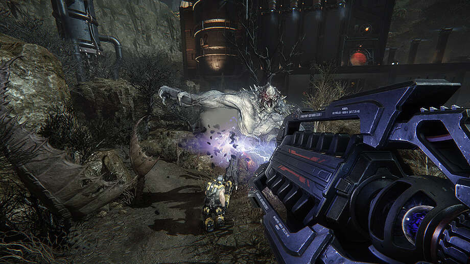 """""""Evolve"""" is an insanely entertaining multiplayer shooter from Turtle Rock Studios and 2K Games that puts players into the role of hunter and hunted, at the same time. Photo: Courtesy 2K Games"""