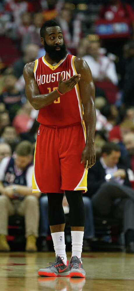 Rockets guard James Harden is making a case for his MVP candidacy. Photo: Karen Warren, Staff / © 2014 Houston Chronicle