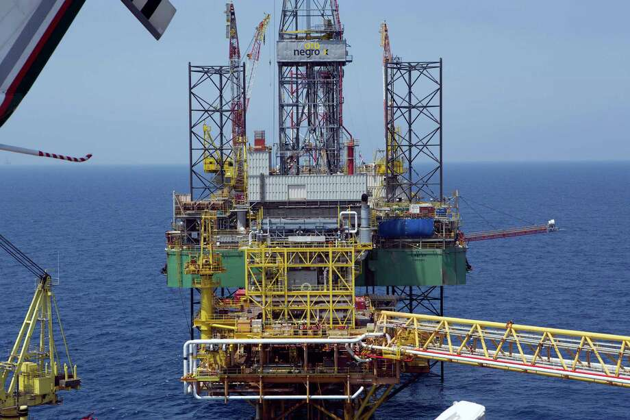 """An oil drilling rig operated by Pemex stands in the Ku-Maloob-Zaap oil field in Campeche Bay off Ciudad del Carmen, Mexico. Regulator Carlos de Regules says of the recent changes in Mexico's rules for outside capital: """"Private investment can come associated with Pemex or not."""" Photo: Susana Gonzalez / © 2014 Bloomberg Finance LP"""