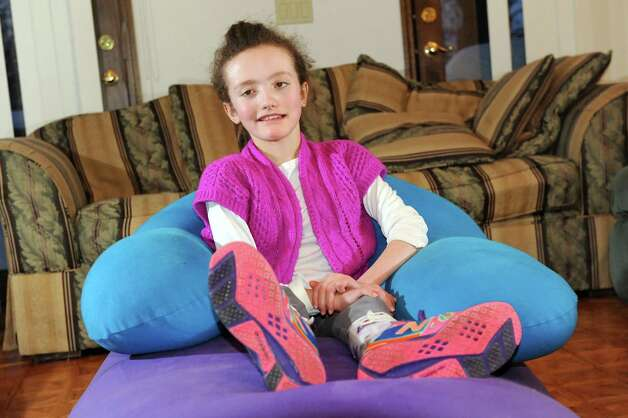 Hannah Sames, 10, at her home on Friday, Feb. 13, 2015, in Clifton Park, N.Y. (Cindy Schultz / Times Union) Photo: Cindy Schultz / 00030620A
