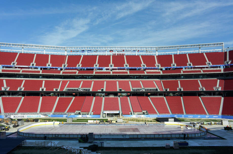 A crowd of about 70,000 is expected Saturday night for the Sharks-Kings game at Levi's Stadium, the first NHL game at the 49ers' home stadium. Photo: James Tensuan / Special To The Chronicle / ONLINE_YES