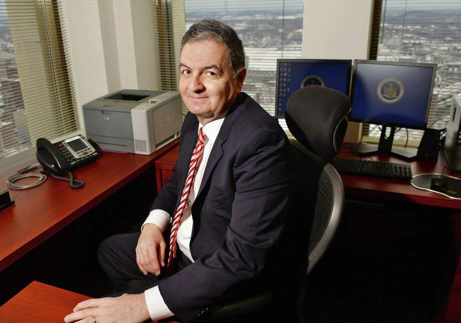Administrator and counsel for the state Commission on Judicial Conduct Robert H. Tembeckjian in his office in the Corning Tower Wednesday Feb. 4, 2015, in Albany, NY.   (John Carl D'Annibale / Times Union) Photo: John Carl D'Annibale / 00030459A