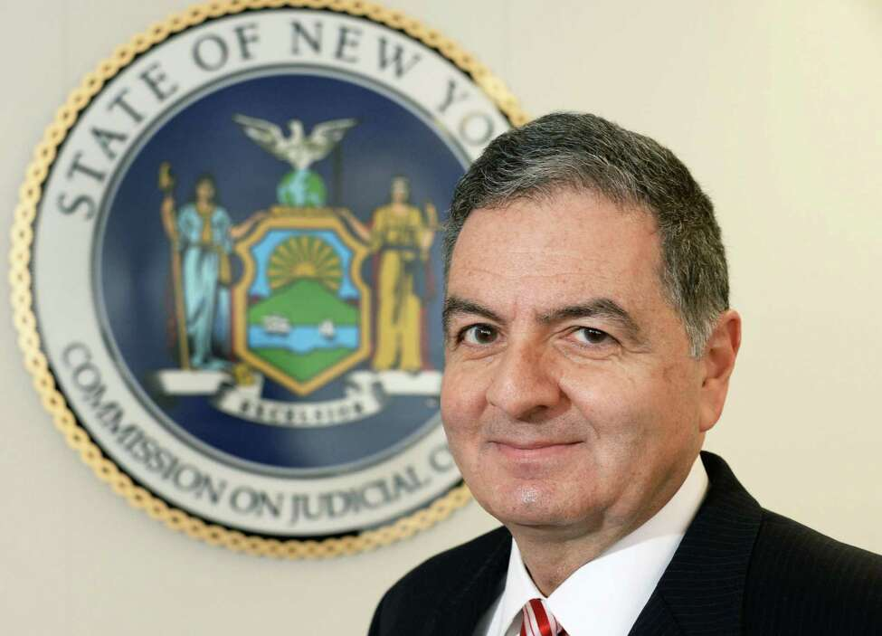 Administrator and counsel for the state Commission on Judicial Conduct Robert H. Tembeckjian in his office in the Corning Tower Wednesday Feb. 4, 2015, in Albany, NY. (John Carl D'Annibale / Times Union)