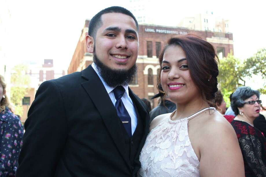 Love was in the air and on the steps of the Bexar County Courthouse on Valentine's Day as many San Antonio couples tied the knot during an annual mass wedding ceremony. Photo: By Yvonne Zamora, For MySA.com