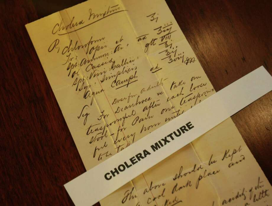 The Carter family, one of San Antonio's pioneering families, donated historical papers and correspondence dating back to 1894 to the University of Texas at San Antonio Library's archives and special collections in 2009. Included is this treatment for cholera. Photo: San Antonio Express-News / File Photo / hmontoya@express-news.net
