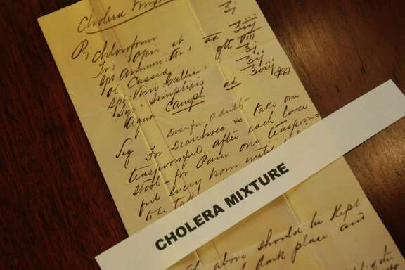 The Carter family, one of San Antonio's pioneering families, donated historical papers and correspondence dating back to 1894 to the University of Texas at San Antonio Library's archives and special collections in 2009. Included is this treatment for cholera.