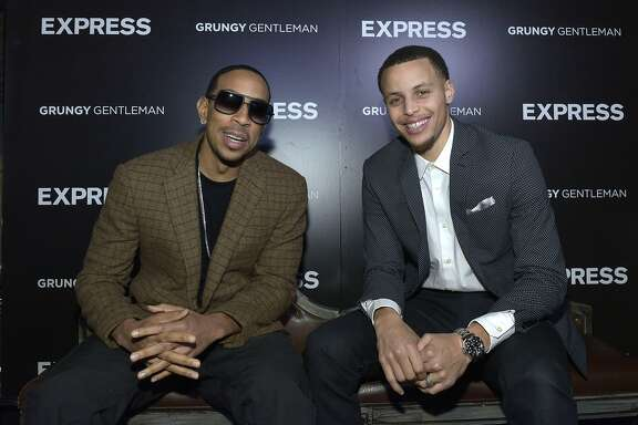 NEW YORK, NY - FEBRUARY 13:  Ludacris and Stephen Curry attend the EXPRESS Launch Party For Menswear Brand Ambassador Stephen Curry on February 13, 2015 in New York City.  (Photo by Eugene Gologursky/Getty Images for Express)
