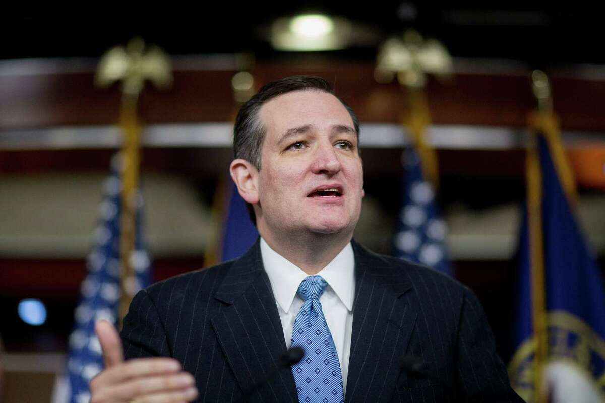 Senator Ted Cruz, a Republican from Texas, speaks during a news conference on the Department of Homeland Security (DHS) funding bill. DHS is operating under a continuing resolution that expires on Feb 27 with a stalemate over whether the must-pass measure should carry riders to upend President Barack Obama's immigration policies continuing to threaten passage of the legislation.