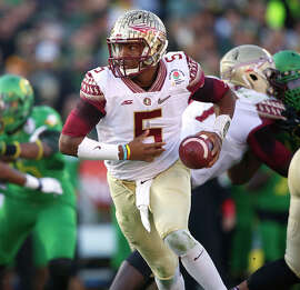 Florida State's Jameis Winston, the 2013 Heisman winner, has size and pocket presence but also some off-field baggage.