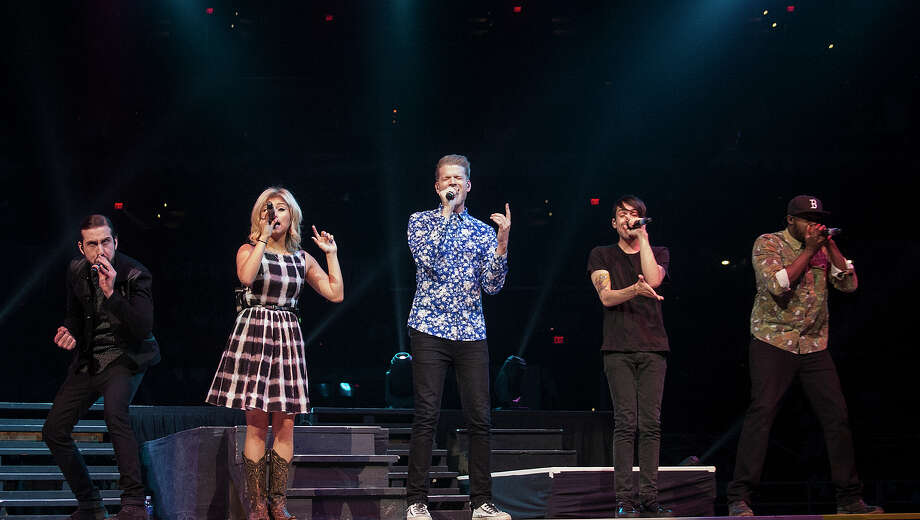Pentatonix performs at the San Antonio Stock Show & Rodeo on Sunday. Pentatonix is a Grammy-winning a cappella group from Arlington, Texas, with more than 6.7 million YouTube subscribers. Photo: Alma E. Hernandez /For The Express-News
