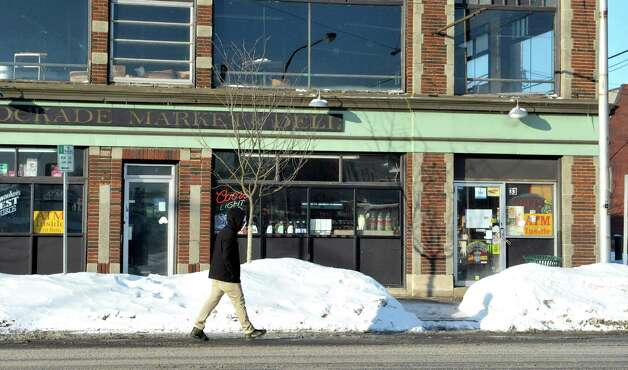 A view of the Stockade Market and Deli on Sunday, Feb. 15, 2015, in Schenectady, N.Y.  Earlier two men who had been stabbed at the  Schenectady County Community College dorms ran into the deli for help.   (Paul Buckowski / Times Union) Photo: Paul Buckowski