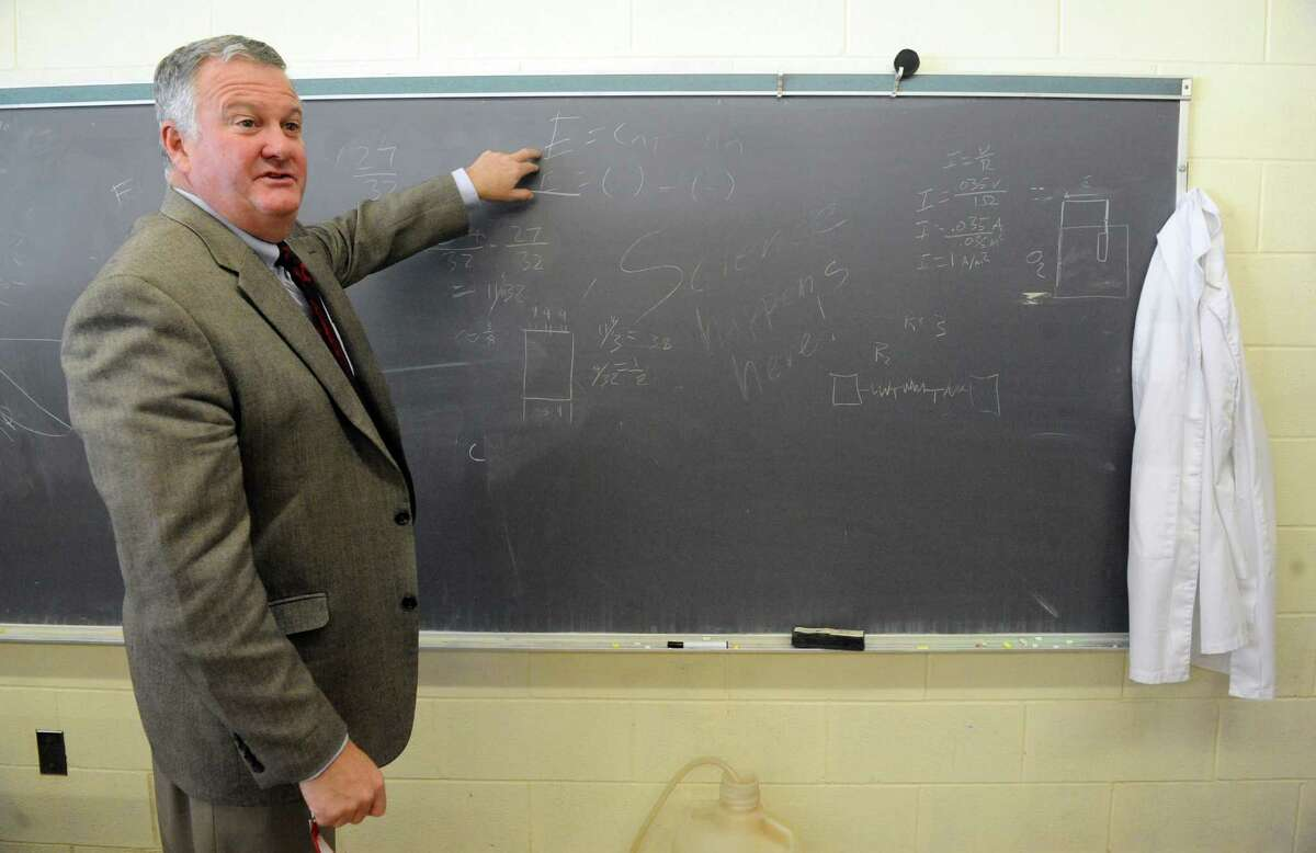 Schodack school superintendent Bob Horan talkls about his idea to allow start-ups to use extra space at district schools to run their businesses on Friday Feb. 6, 2015 in Castleton-on-Hudson, N.Y. (Michael P. Farrell/Times Union)