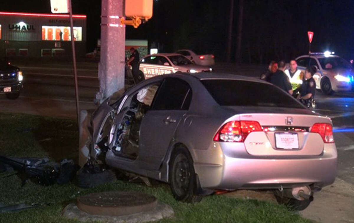 The single-vehicle crash occurred about 3:30 a.m. in the 2700 block of FM 1960 near Treaschwig Road, according to the Harris County Sheriff's Office. (See more at The Montgomery County Police Reporter.)