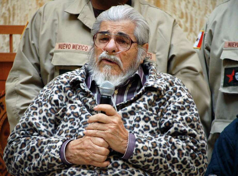 Reies Lopez Tijerina, a champion of Chicanos' land-rights claims and the leader of a group that raided a northern New Mexico courthouse nearly 50 years ago, died at age 88 on Jan. 19. Photo: Russell Contreras /Associated Press / AP