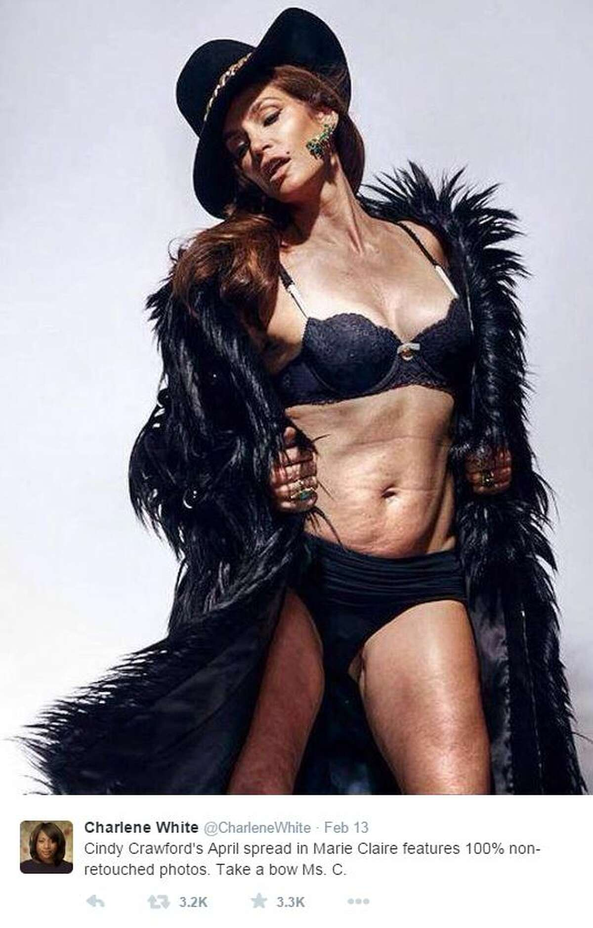 The American supermodel who gained popularity in the 1980s and 1990s, Cindy Crawford, is causing a frenzy again. But this time it's not for her perfect features - it's actually the opposite.