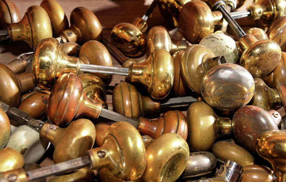 Brass door knobs at the Historic Albany Foundation's warehouse. Photo: John Carl D'Annibale/Women@Work / 00030118A