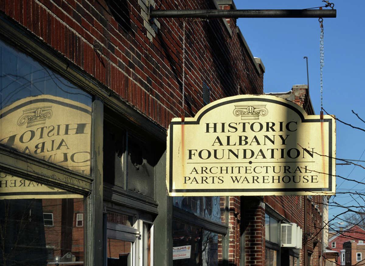 Historic Albany Foundation's warehouse on Lexington Avenue Tuesday in Albany, NY.