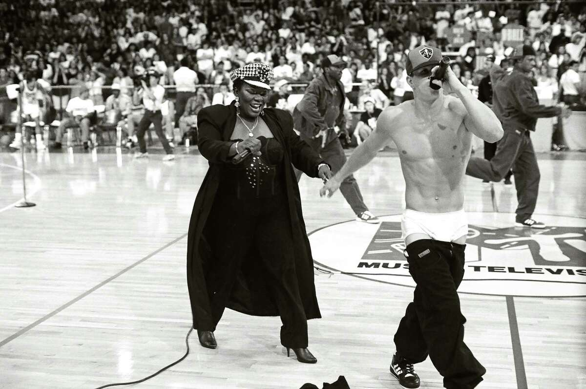 Mark Wahlberg during 1991 MTV Rock 'n Jock Basketball in Los Angeles, California, United States. (Photo by Jeff Kravitz/FilmMagic, Inc)