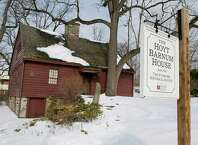 The Hoyt Barnum House, built in 1699, would be moved to a new location if the proposal to build a new police headquarters next to the current building is approved.