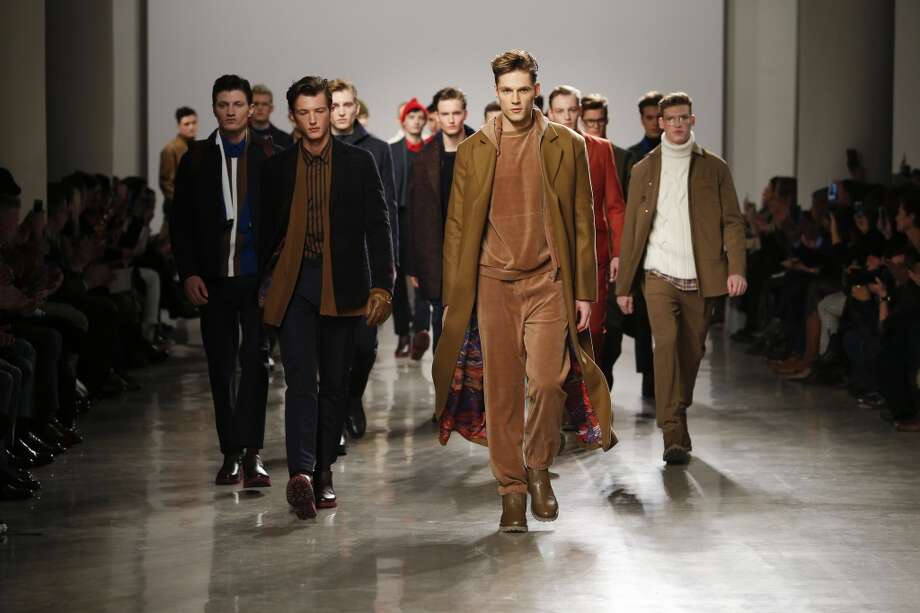 The Perry Ellis Fall 2015 collection by Michael Maccari is shown at New York Fashion Week. Photo: MONICA FEUDI