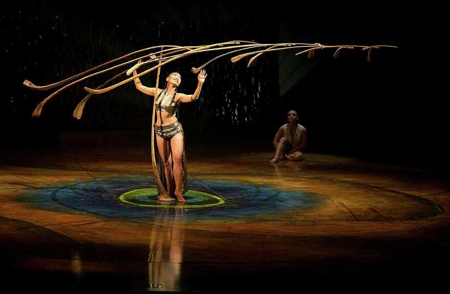 A scene during the final dress rehearsal of Cirque du Soleil's Amaluna at Sam Houston Race Park Wednesday, Feb. 11, 2015, in Houston. ( James Nielsen / Houston Chronicle ) Photo: James Nielsen, Staff / © 2015  Houston Chronicle