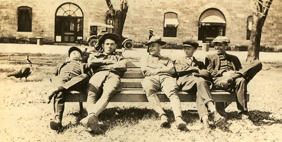 A place to relax in the Quadrangle, circa 1918.