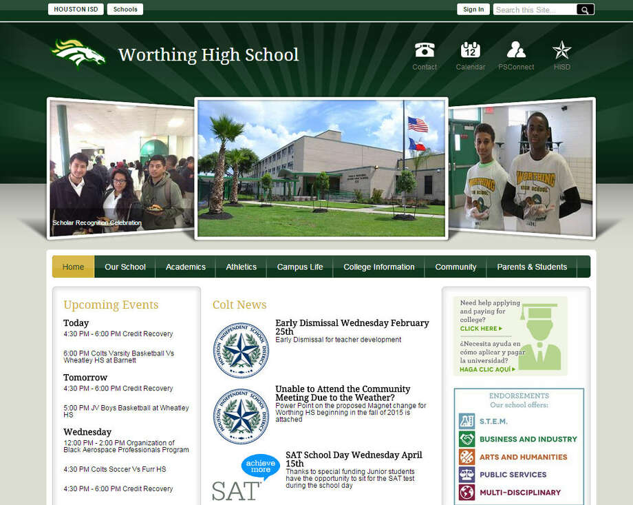 Worthing High SchoolLocation:Southeast Houston    Houston ranking: 33   Overall ranking: 2,129 Photo: Dylan Baddour