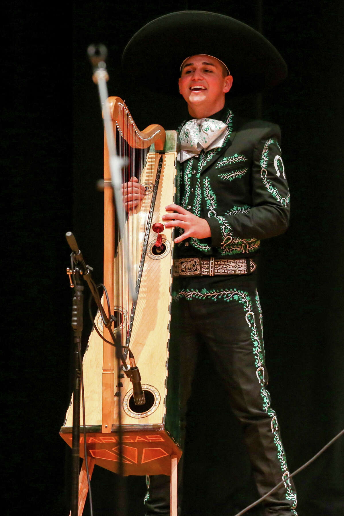 The Southwest High School Mariachi Los Dragones perform during the 2015 Texas High School Mariachi Competition Finals at Southwest High School on Saturday, Feb. 7, 2015. Southwest finished fifth in this year's competition. MARVIN PFEIFFER/ mpfeiffer@express-news.net