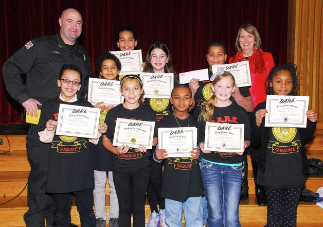 Rensselaer County Sheriff?s Office DARE (Drug Abuse Resistance Education) graduation ceremony was held at Rensselaer Park Elementary, Lansingburgh, on Feb. 6. Students were awarded certificates of completion from County Executive Kathy Jimino and Deputy Jeff Russo. Students of the year are Charisma Losee, Thomas Daniels, Calvin Welch and Nasir Gordon. Essay winners were Leigha Henkel, Matthew Rodriguez, Serenity Sampson, Alexis Strock and Tatianah Zeigler.