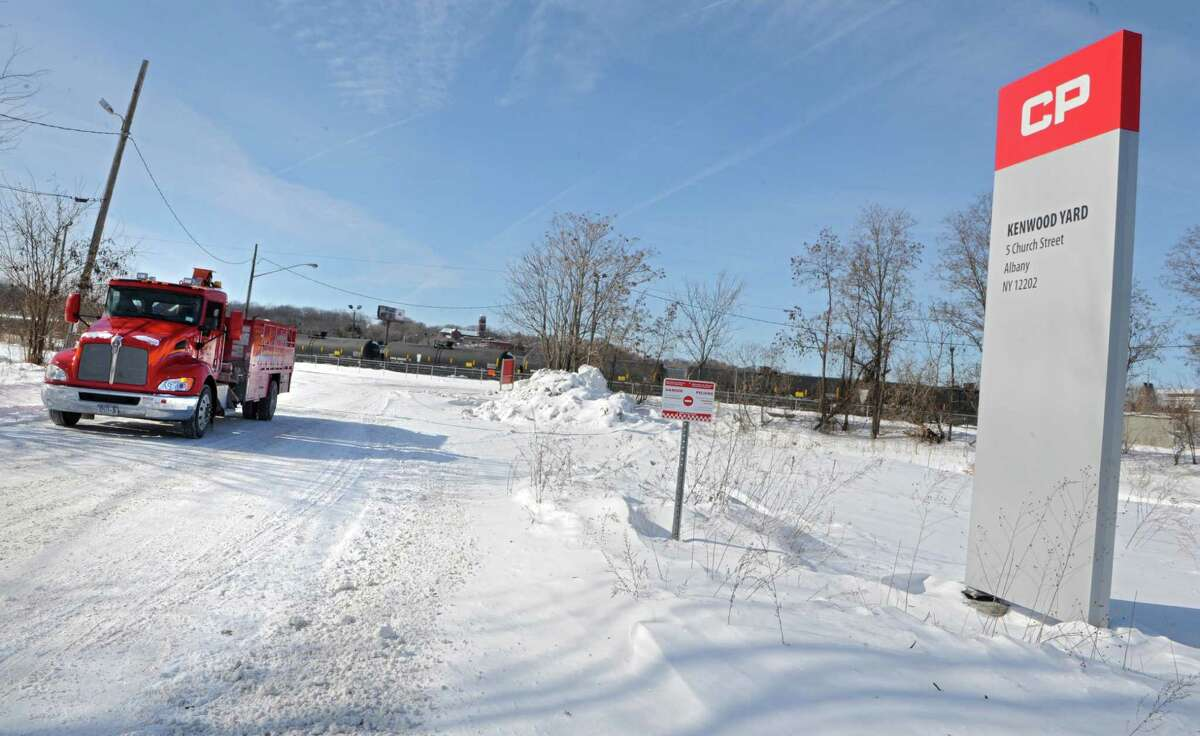 Exterior of Kenwood railyards where engineers have walked off the job at Canadian Pacific on Monday, Feb. 16, 2015 in Albany, N.Y. (Lori Van Buren / Times Union)