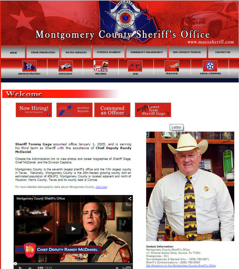 At about 8 p.m. on Monday, the sheriff's website looked normal.