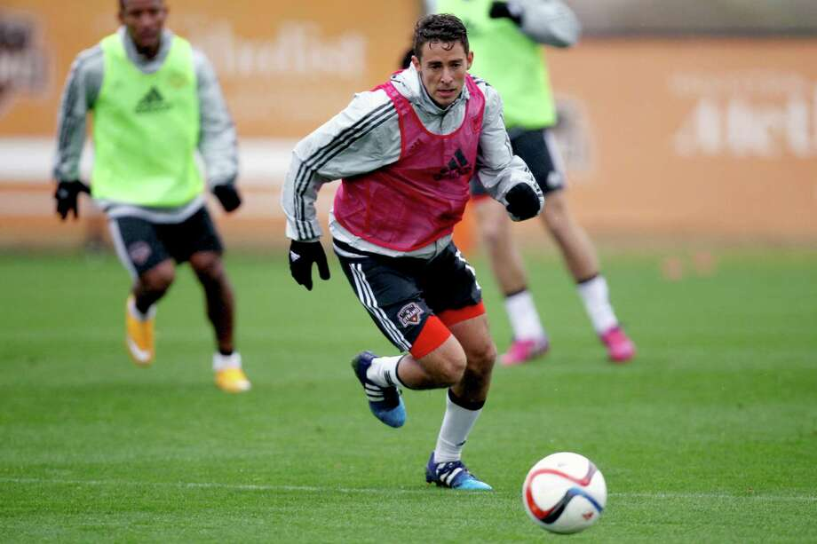 Chandler Hoffman came to the Dynamo by way of the L.A. Galaxy, with whom he learned the game under the guidance of Landon Donovan and Ireland's Robbie Keane. Photo: Gary Coronado, Staff / © 2015 Houston Chronicle
