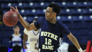 Notre Dame of Fairfield v. Bunnell boys basketball at the Webster Bank Arena in Bridgeport, Conn. on Monday, February 16, 2015.