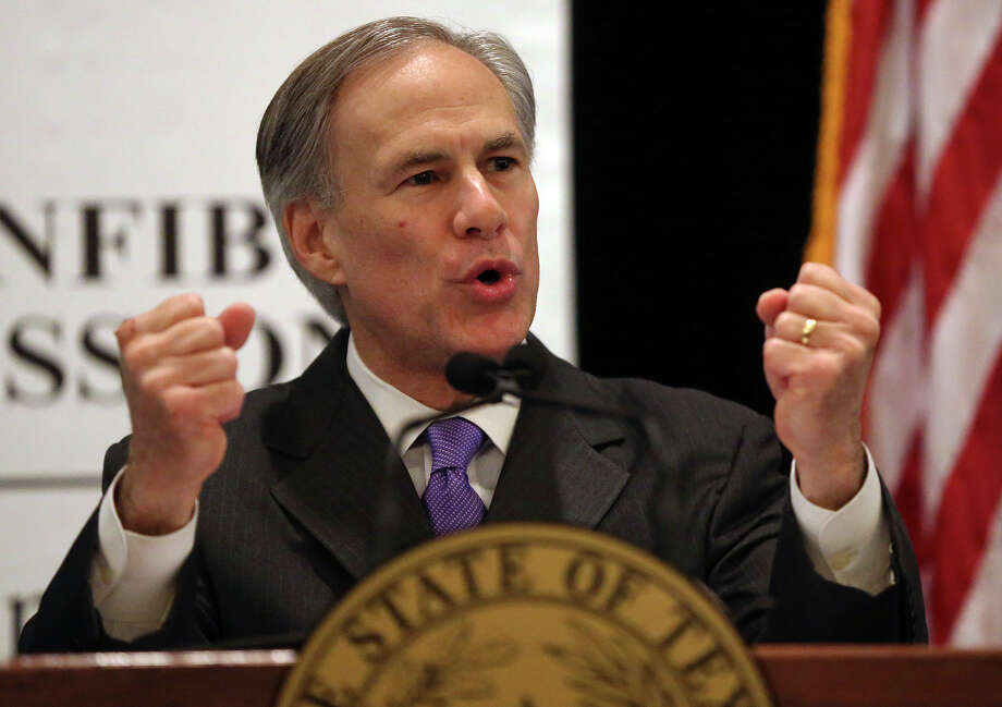 Governor Greg Abbott delivers remarks at the National Federation of Independent Business' Samll Business Day luncheon at the Sheraton Hotel in Austin on February 3, 2015. Photo: Tom Reel / San Antonio Express-News
