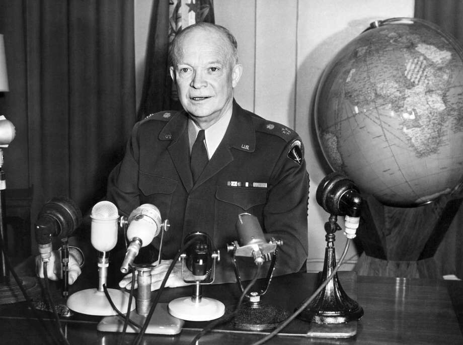 Dwight D. Eisenhower High: December 1956, 79 percentLow: April 1958, 48 percent Source: Pew Research Center Photo: AFP, Getty Images / 2012 AFP
