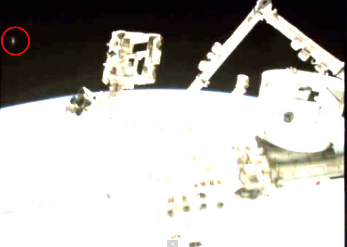 A mysterious light seems to appear then disappear behind the International Space Station in this NASA video posted and slowed down by YouTube user Streetcap1. UFO Sightings Daily says it might be a UFO. What do you think?