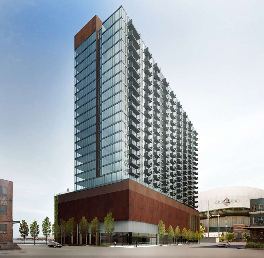 A 380-unit downtown tower proposed by Marquette Companies will benefit from the Downtown Living Initiative. Photo: Marquette Companies