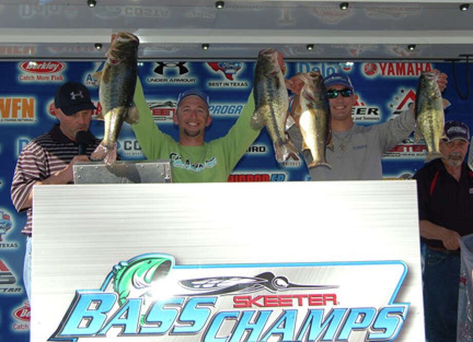 Lance Duff and Cole Costlow took 1st place in the event, topping 276 other teams, with their 26.64 lb limit.  Photo by Patty Lenderman, Lakecaster